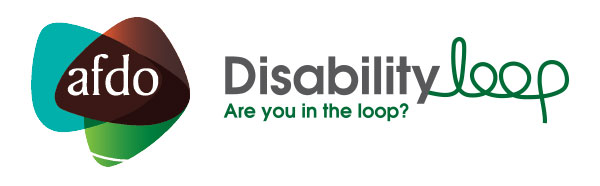 AFDO and Disability Loop logos