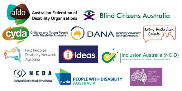 Disability organisation logos