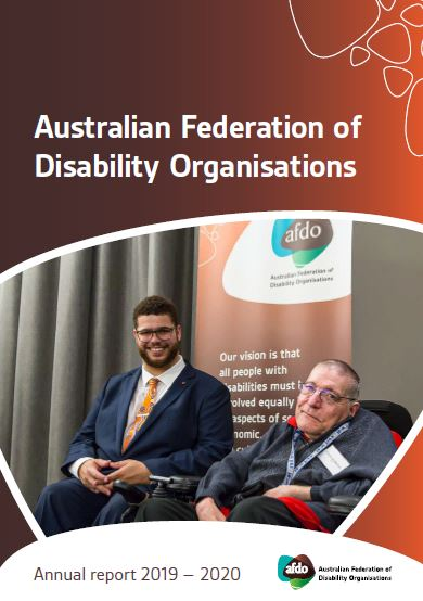 Annual Report front cover - photo of Jordon Steele-John and Frank Hall-Bentick